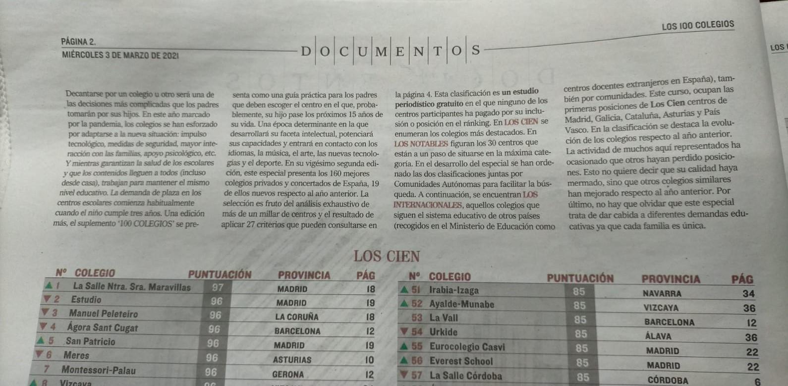 El Colegio Romareda Entre Los Mejores De España Colegio Romareda